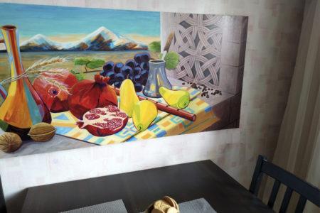 Роспись стены на кухне- Армянский натюрморт