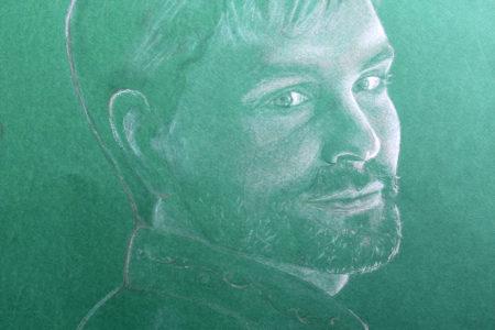 Портрет на заказ выполнен в технике пастель.