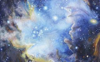 Вселенная космос, как роспись на стене