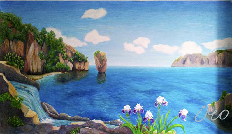 роспись стен на заказ море