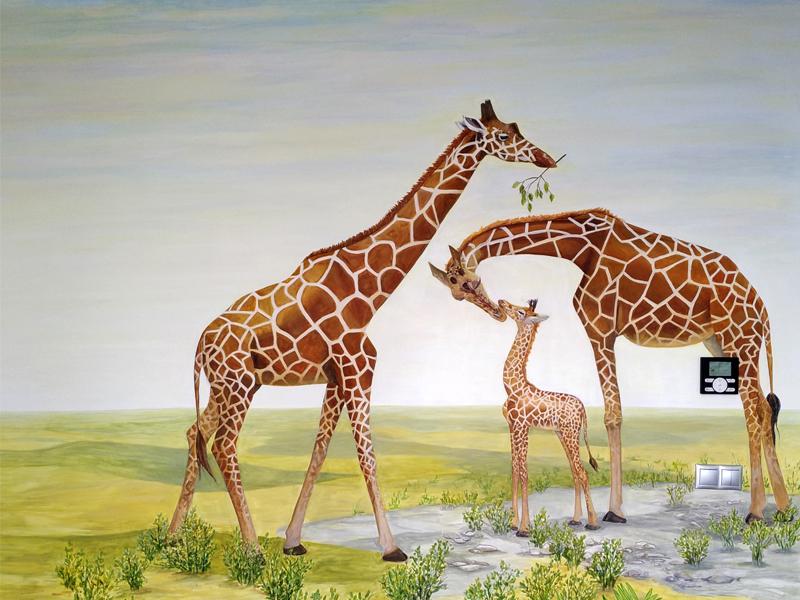 Роспись стен на заказ - жирафы