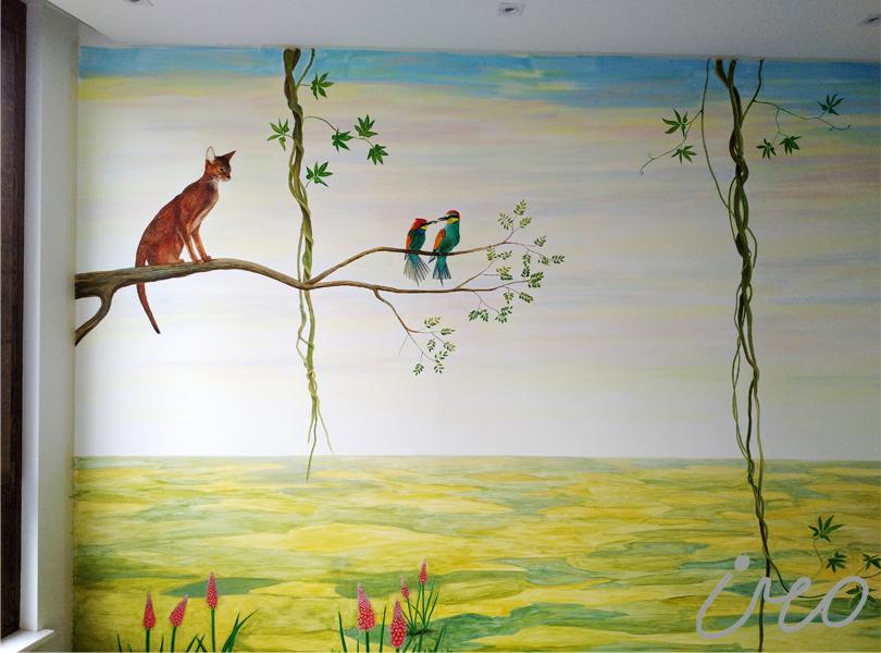 Роспись стен в детской цена